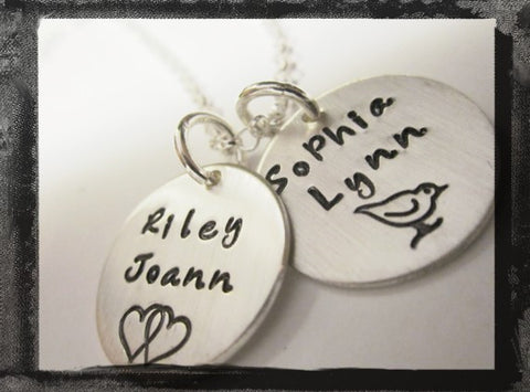 Design Stamp Charms - Sterling Silver x2