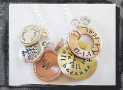 All Because Two People Fell In Love - Mixed Metal Anniversary Necklace