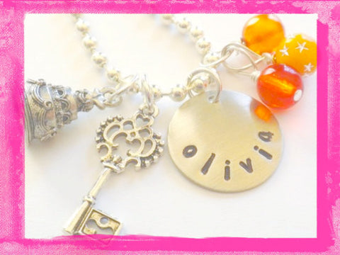 Flower Girl - Key To My Heart - Wedding Cake - Necklace for Girls
