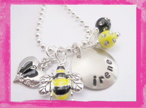 Bumble Bee Necklace for Girls