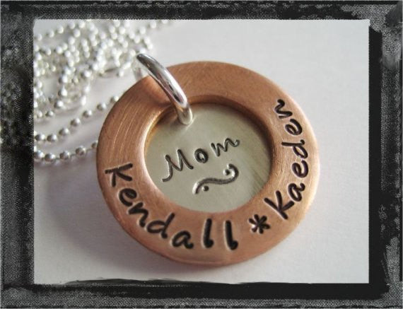 Mom's Mine - Personalized Washer Necklace