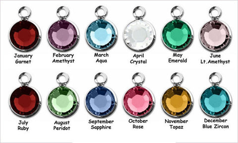 Bezel Swarovski Crystal Add On Charm