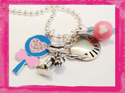 Gymnastic and Lollipop - Necklace for Girls
