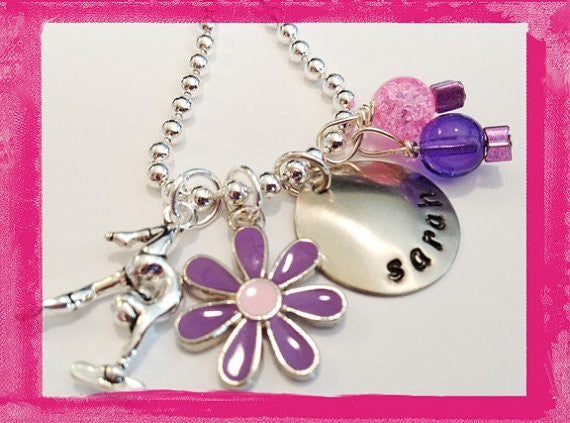 Gymnast and Daisy - Necklace for Girls