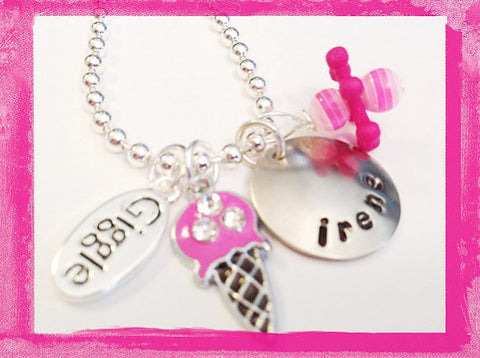 I Giggle For Ice Cream - Charm Necklace for Girls