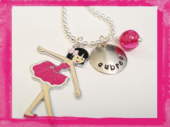 Ballerina Necklace for Girls - Ballet Dance Dance Dance #D16