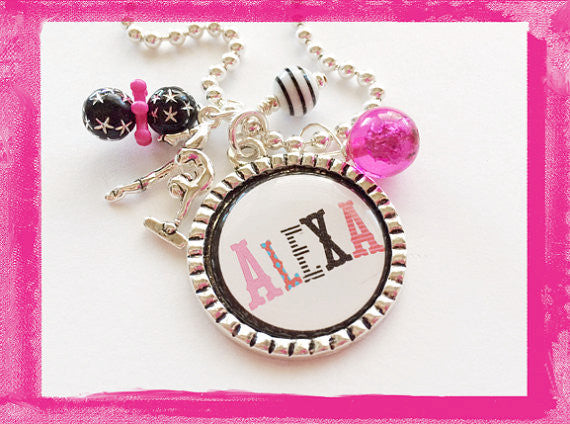 Gymnastic Necklace -  Sports Bezel Necklace for Girls Gymnist