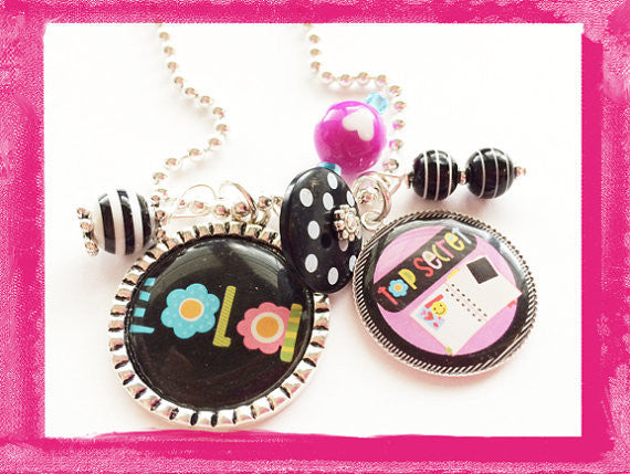 Dear Diary - Top Secret Bezel Necklace for Girls #B33