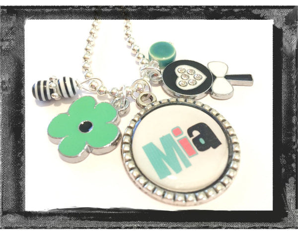 Personalized Necklace - Lollipop and Flower