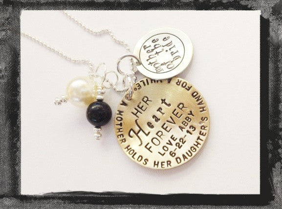 Mother of the Bride / Groom - Mixed Metal Charm Necklace