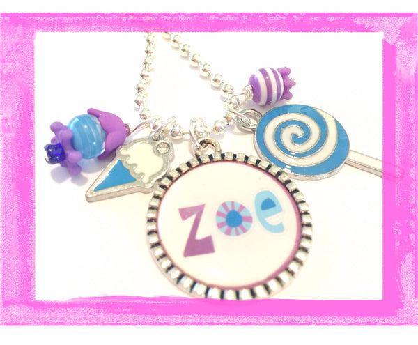 Charm Necklace Personalized SO SWEET #Q39