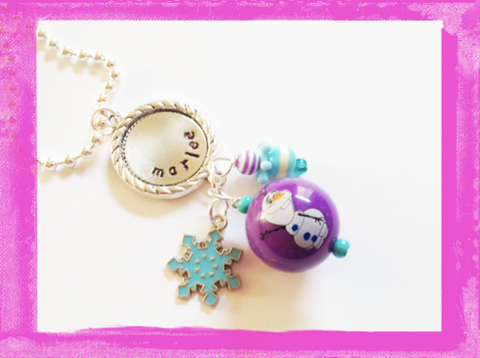 Olaf Necklace Frozen Pendant Necklace Personalized #A400