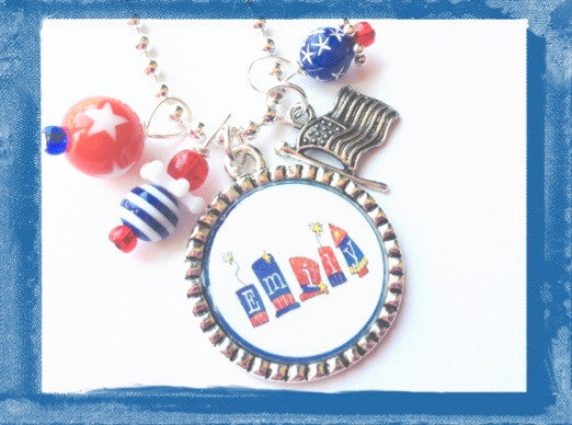 Independance Day Personalized Necklace