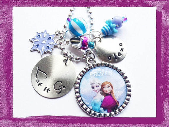 LET IT GO - Princess Neckace - Personalized Necklace for Girls #B27