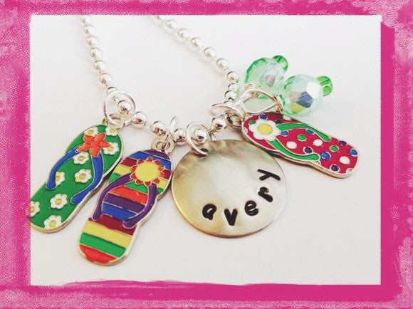 Flip Flop Necklace - Charm Necklace for Girls