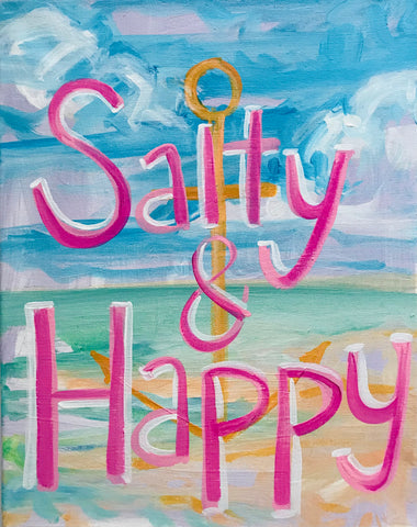 Salty & Happy Painting on Canvas