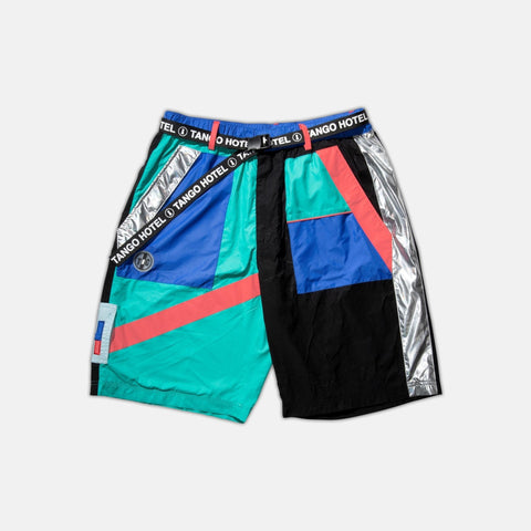 Multi Abstract Shorts (Multi/Blk) / D4