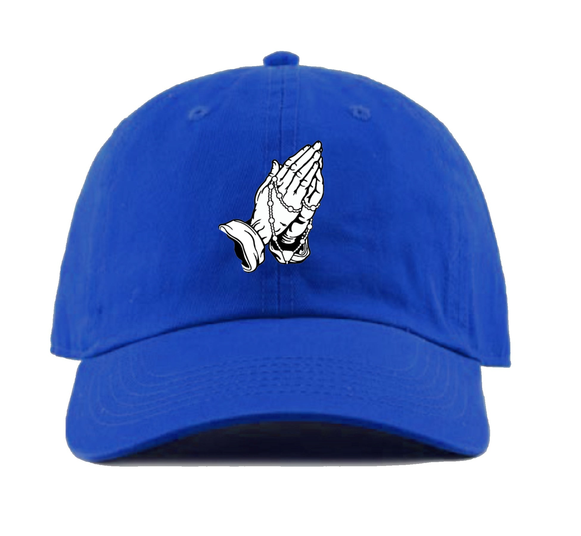Praying Hands Dad Hat (Royal Blue)