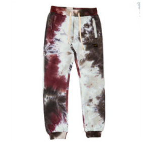 Houston Tie-Dye Sweatpants (Burgundy) /C7