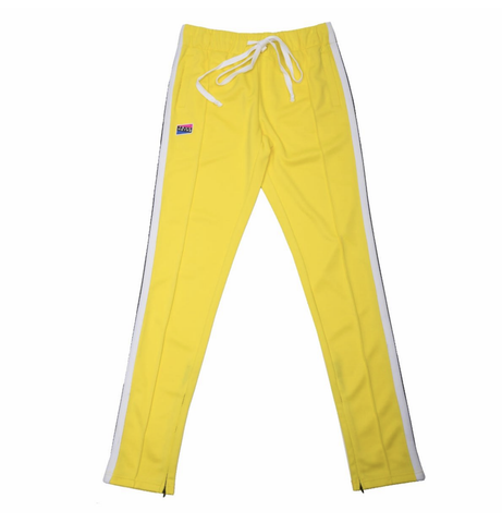 Contrast Color Track Pants (Yellow/Wte) / C2