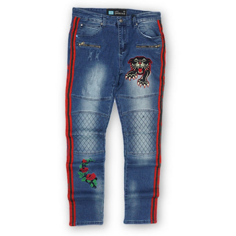 Embroidery Patch Biker Denim (Blue) /C3