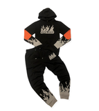 Reflective 3M Flames Set (Black)