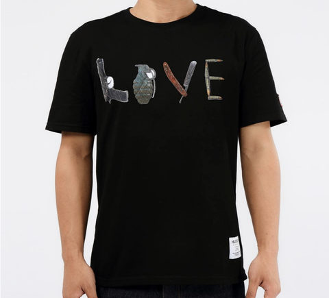 Weapons Or Love Tee (Black) /D4