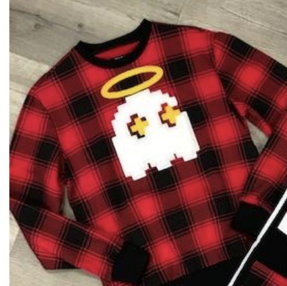 Halo Plaid Crewneck (Red)