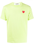 Logo Embroidered Heart Tee (Lime) D9