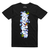 Octopushi Floral Butterfly Tee (Black) /D4