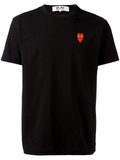Logo Embroidered Heart Tee (Black) / D9