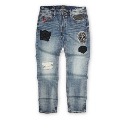 Cafe Racer Straight Patch Denim (Blue) /C1