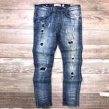 Distressed Slim Fit Denim (Lt Blue) /C4