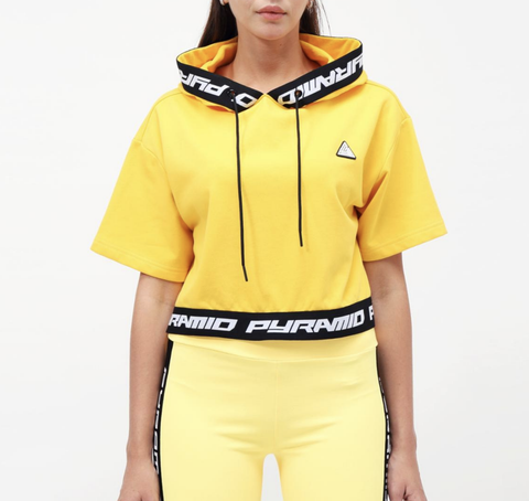 Wmn Logo Tape Hoodie Top (Yellow) / MD2