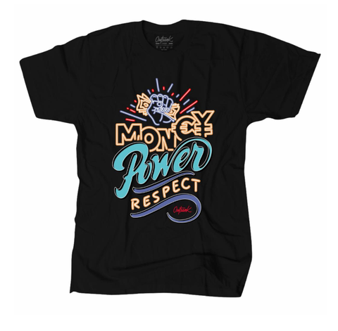 Money Power Respect Tee (Blk/Prp/Org/Teal)