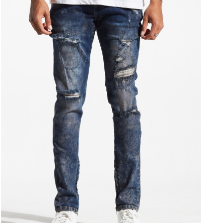 Distressed Pacific Denim (Dark Blue) /C1