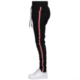Lazer Red Stripe Denim (Black) /C8