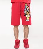 Bear Gang Shorts (Red) /D15