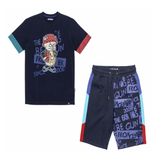 Pig Drip Graffiti Set (Navy) / D4