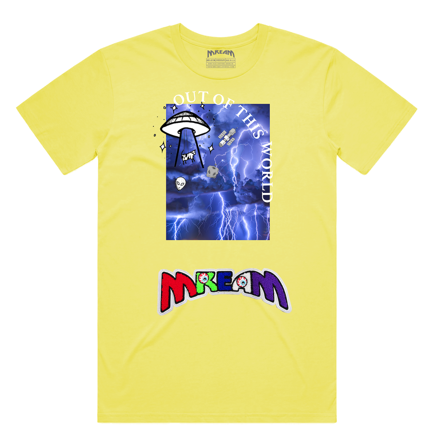Out Of This World Tee (Yellow) /D4