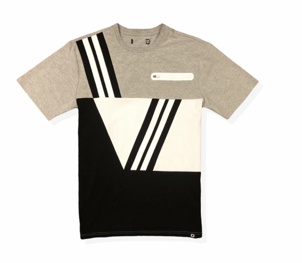 Civil Color Block Tee (Black) /D18