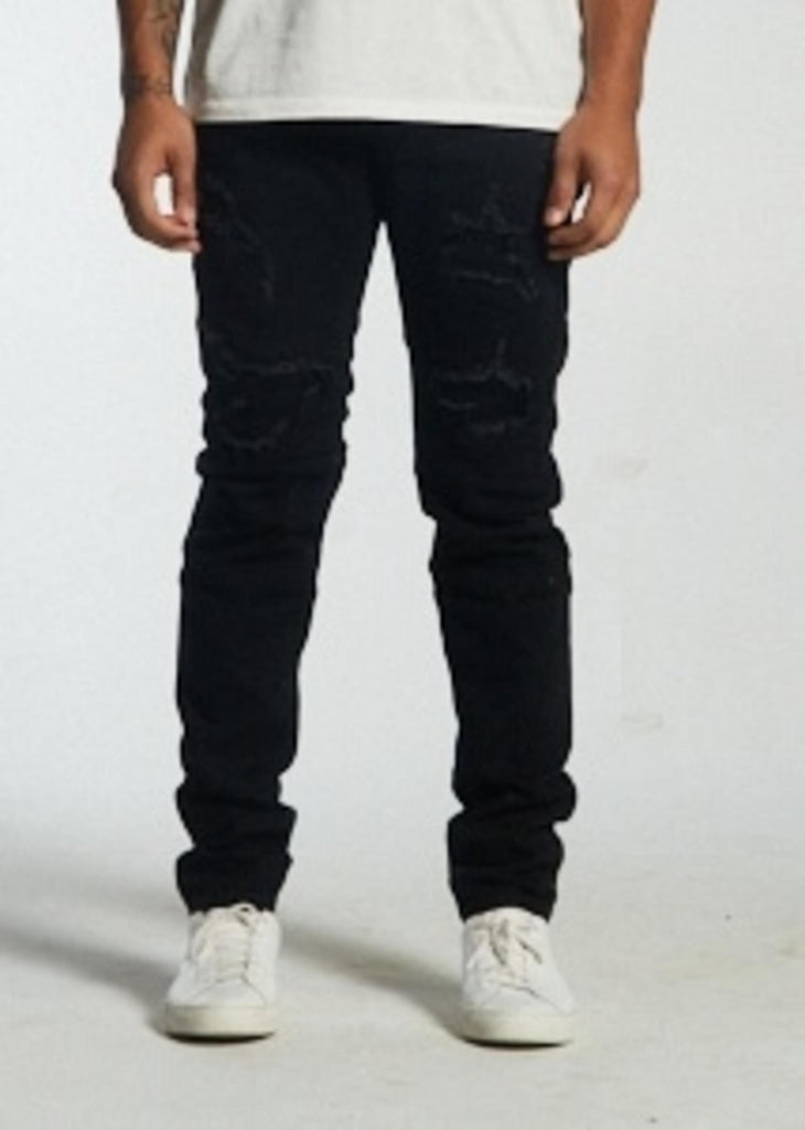 Atlantic Distressed Denim (Black) / C3