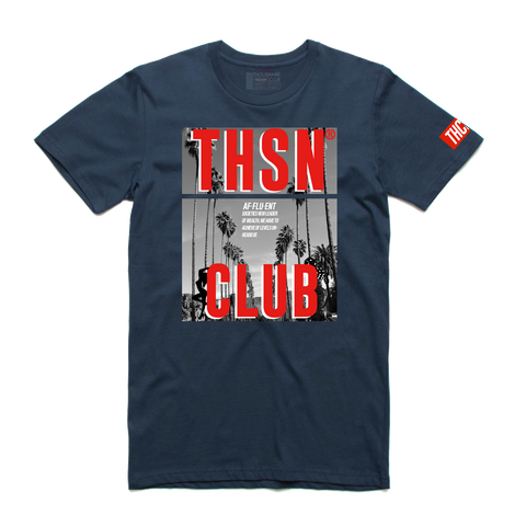 THSN Red Palm Tee (Navy) D4