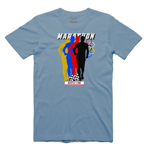 Marathon Tee (Powder Blue) / D2
