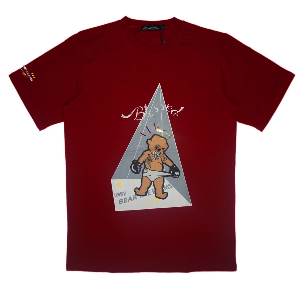 Blessed Boy Tee (Burgundy)