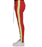 Techno Track Pants (Red/Neon Green) /D1