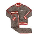 Rockstar Arad Brown Track Suit (Brown/Red)MD1