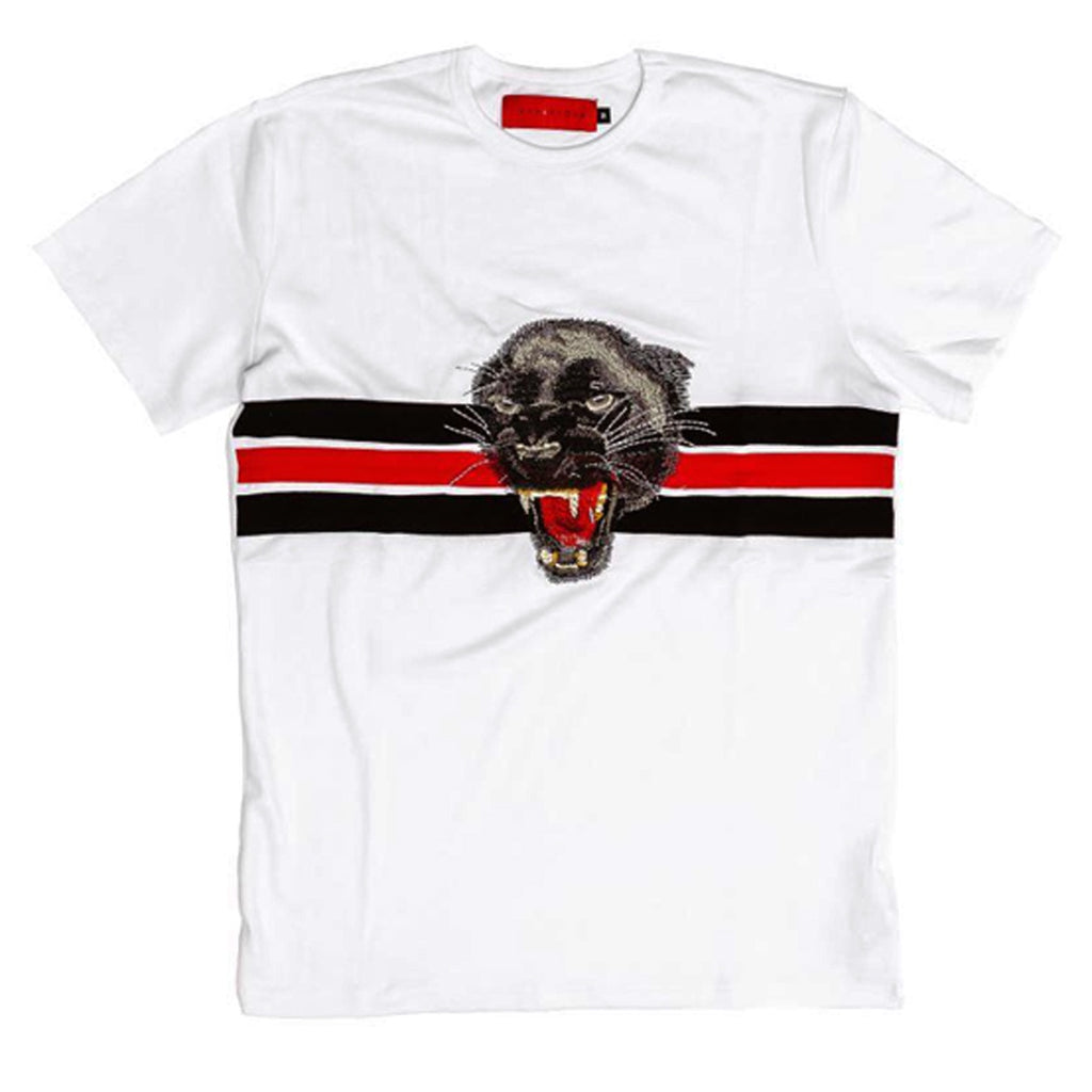 Wild Cat Embroidery Tee (White)