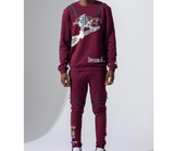 Dream Of L/S Crew Set (Burgandy)/C8