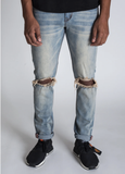 Open Knee Ankle Inner Tape Denim (M.Vintage) /C3